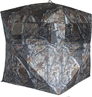 THUNDERBAY 2 Person Hunting Blind, Portable Ground Blind with Silent Sliding Window