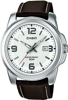 Casio Collection MTP-1314PL-7AVEF, Orologio da polso Uomo, Bianco (Bianco/Marrone)