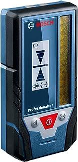 Bosch Professional Lasermottagare LR 7 (röd och grön stråle, 2 x 1,5V-batterier AAA, mätintervall: 5–50m, skyddsväska)