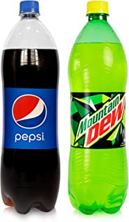 Pepsi & Mountain Dew Carbonated Soft Drinks,  2 x 1.5 Litre