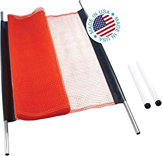 Kidkusion Non-Retractable Driveway Safety Net, Orange, 30' | Outdoor Barrier; Playtime Safety; Yard Safety