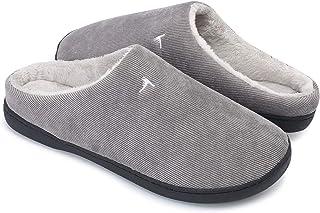 comprar comparacion OUSIMEN Zapatillas Casa Hombre Mujer Invierno Calido Zapatillas Memory Foam Slipper Ultraligero cómodo y Antideslizante Za...