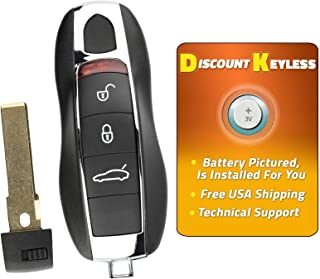 For 14-17 Porsche 911, Boxster, Cayenne, Cayman, Macan, Panamera Keyless Entry Remote Smart Key Fob 3btn KR55WK50138, 7812D-5WK50138