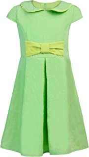 Balasha Kids Girl's Wear A Line Short Sleeve Vintage Style Peter Pan Collar Dress
