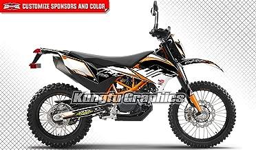 Kungfu Graphics Custom Decal Kit for 690 Enduro R 2012 2013 2014 2015 2016 2017 2018, Black White