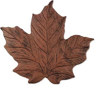 Sunset Vista Designs Wilderness Wonders Cast Iron Maple Leaf Stepping Stone, 11-1/2 by 12-Inch