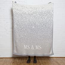product image for in2green Glitter Mr & Mrs Throw | Silver