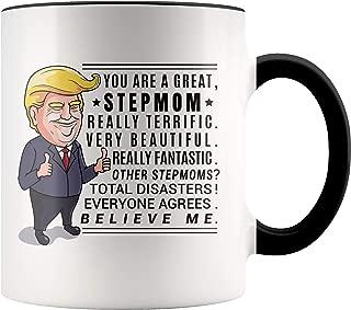 YouNique Designs Trump Stepmom Mug, 11 Ounces, Funny Stepmother Cup, Trump Coffee Mugs