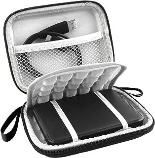 Lacdo EVA Shockproof Carrying Case for Western Digital My Passport Studio Ultra Slim Essential WD Elements SE Portable 500GB 1TB 2TB USB 3.0 Portable 2.5 inch External Hard Drive Travel Bag, Black
