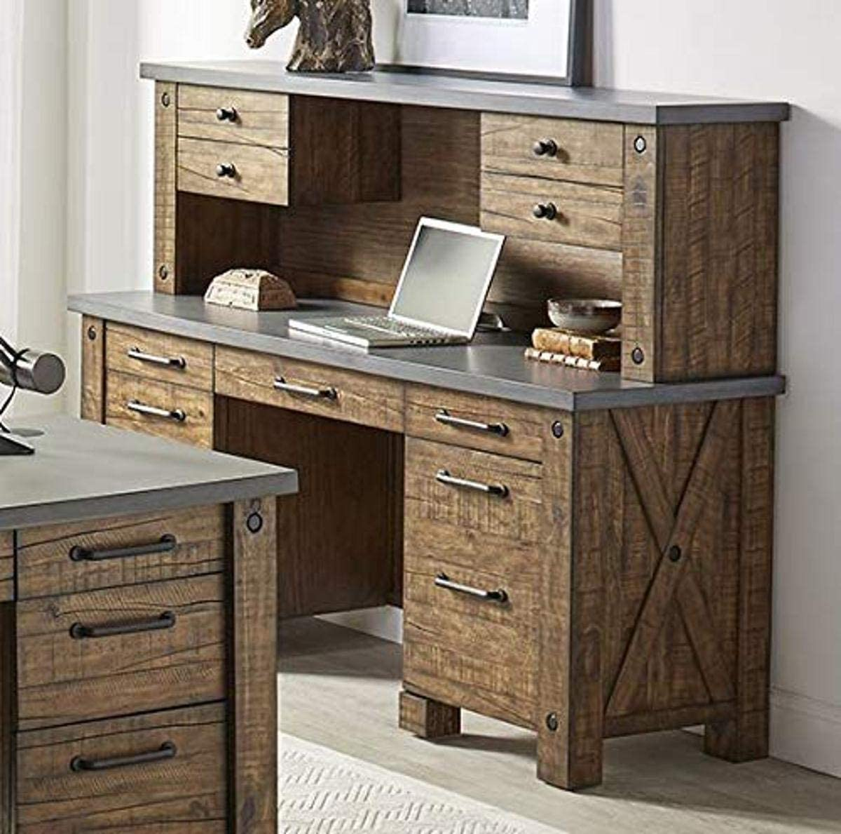 Martin Furniture IMJA689-470-KIT Sale special price Credenza and Award-winning store Brown Hutch Low