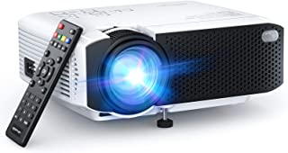 "APEMAN LC350 Mini Projector, 2021 Upgraded 4500L Brightness, 1080P and 180"" Display Supported, Portable Movie Video Projec..."