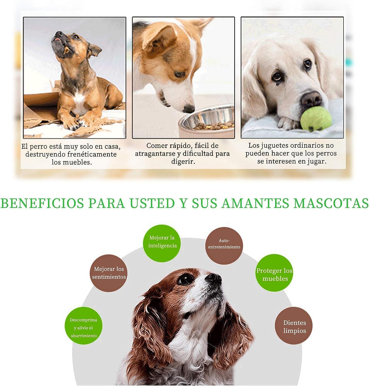 Dispensador de Premios para Perrito Andiker Juguete de puzle para Perros 2 Colores Alimentador Lento para Perros Azul Juguete Interactivo Duradero para Perros