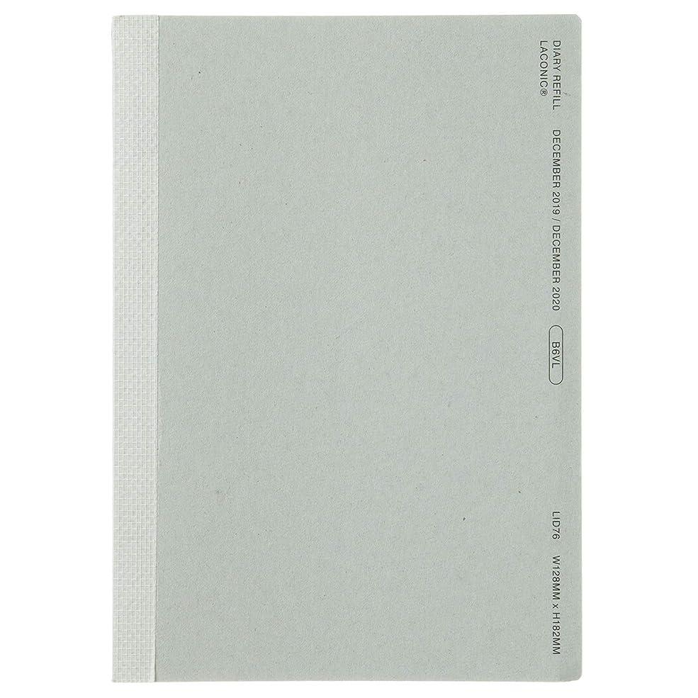 印象派チキン熟達ラコニック 手帳 リフィル 2020年 B6 ウィークリー LID76-140 (2019年 12月始まり)