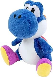 Little Buddy 1388 Super Mario Bros All Star Collection Dark Blue Yoshi Stuffed Plush, 7