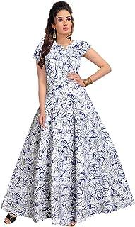 Trendy Fab Women's Cotton Half Sleeve Dress Dark Blue