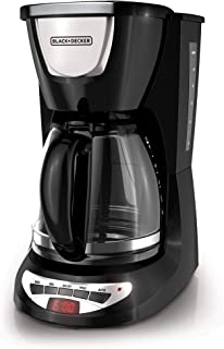 Black & Decker DCM100B 12 Cup Cup Coffeemaker قابل برنامه ریزی با شیشه Carafe ، سیاه