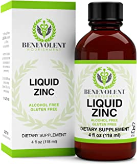 Zinc Supplement with Organic Elderberry Fruit & Herbs - Potent & Effective Liquid Dietary Supplement for Entire Family - 1...