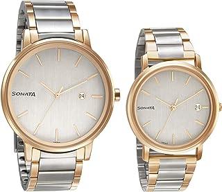 Sonata Analog Silver Dial Men's Watch-713187029KM01