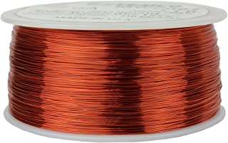 TEMCo 28 AWG Copper Magnet Wire - 1 lb 1988 ft 155°C Magnetic Coil Red