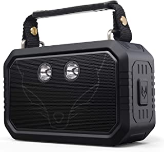 DOSS Wireless Portable Bluetooth Speakers with Waterproof IPX6, 20W Stereo Sound and Bold Bass, 12H Playtime, Durable for Phone,Tablet, TV, Gift ideas-Black