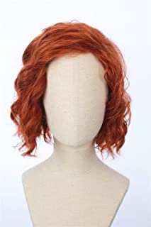 Cosplaywigscom: Black Widow Wig Inspired of avengers age of Ultron Medium Red Curly Cosplay Hair for Adults and Teens