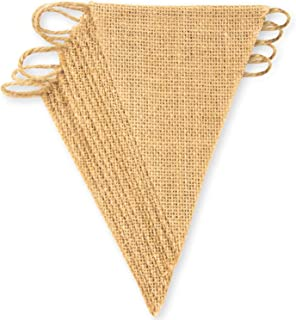 ThxToms (15 Pcs) Burlap Banner, DIY Party Decor for Birthday, Wedding, Baby Shower and Graduation, 14.5ft