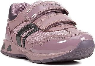 حذاء رياضي PAVLIS نسائي بأربطة مزدوجة من الشبك من Geox Girl، لون وردي/بنفسجي
