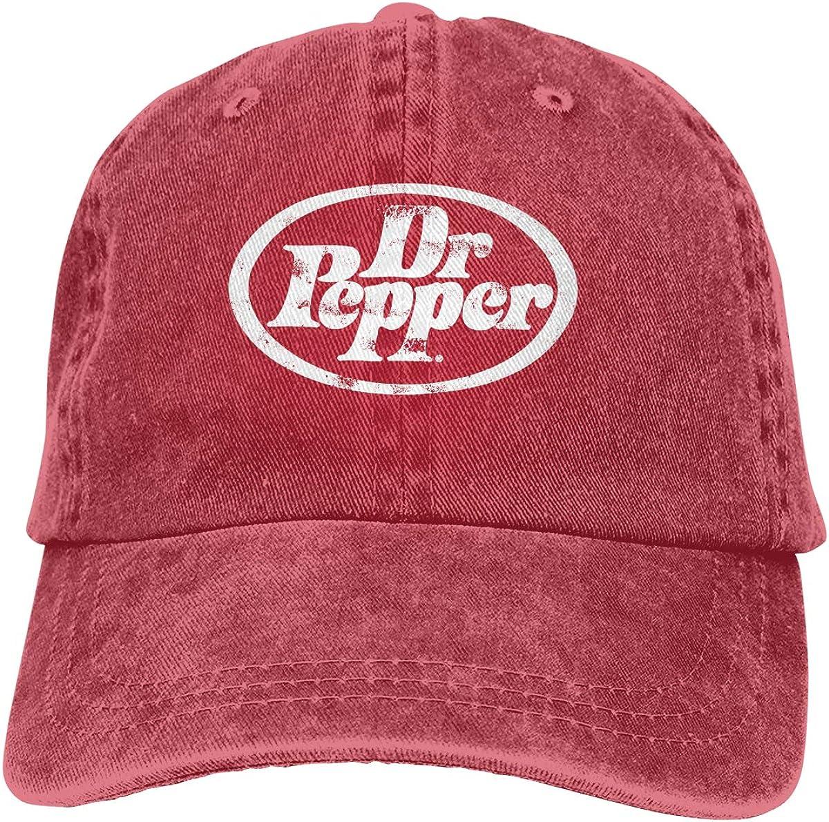 Dunpaiaa Trucker Cap Dr Pepper Durable Baseball Cap,Adjustable Dad Hat Black