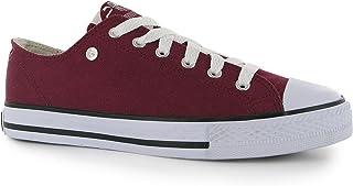 Dunlopキッズ子供用ジュニアFootwearキャンバスLowトレーナーシューズBurgundy 5.5?( 38.5?)
