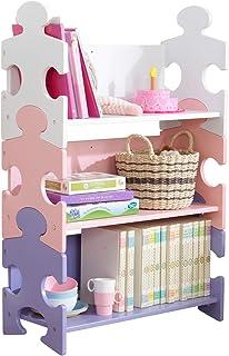 KidKraft Puzzle Bookshelf-Pastel, Wood, Multi-Colour
