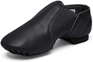 Leather Jazz Slip-On Dance Shoes for Girls Boys Toddler Kid