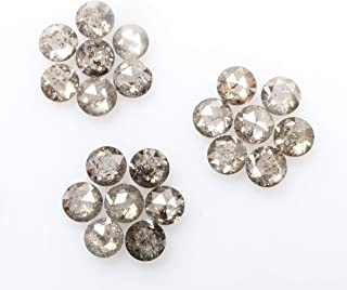rose cut salt and pepper diamond