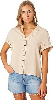 Swell Women's Scarlet Button Through Shirt Short Sleeve Rayon