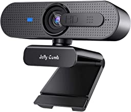 1080P Webcam With Privacy Shuttter, Jelly Comb HD Autofocus Webcam, Computer Web Camera With Microphone for Skype, Video C...