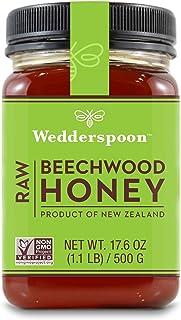 Wedderspoon Raw Beechwood Honey, Unpasteurized, Genuine New Zealand Honey, Multi-Functional, Non-GMO Superfood, 17.6 Ounce