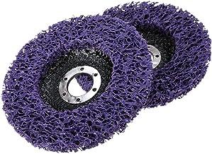 Pceewtyt 2 stuks 125 mm polystrips schijf slijpschijf lak verwijdering reinigen
