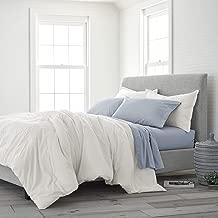 EcoPure 100% Organic Cotton Comfort Wash Duvet Cover Set Twin Soft White