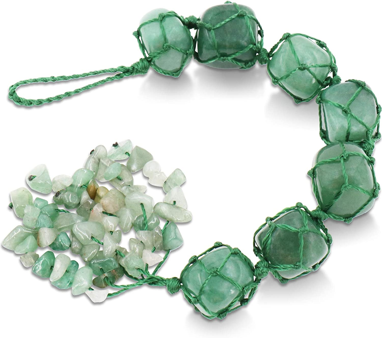Award CASMON Healing Crystals Green Aventurine Selling Gemstones Rearview Car