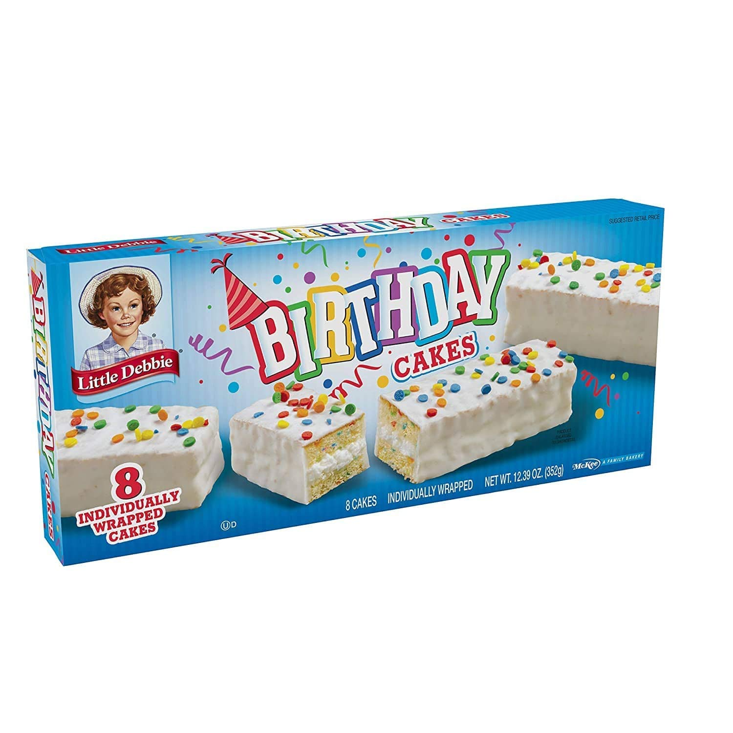 Little Debbie Birthday depot Surprise price Cakes 16 of Wrapp Individually Boxes 128