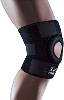 LP SUPPORT Extreme Knee Support Functional Brace with Open Patella Design, Additional Donut-Shaped Patella Pad and Adjustable Hook and Loop Closure - One Size Fits All