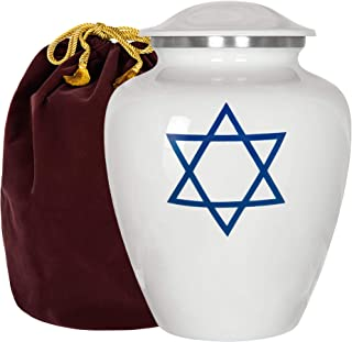 Trupoint Memorials Star of David Jewish Urn for Human Ashes - A Beautiful Tribute and Final Resting Place for Your Love On...