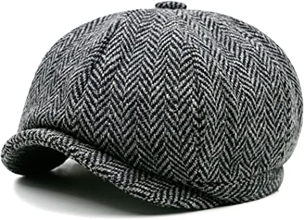 77759d8ea1e18b Opromo Classic Men's Wool Blend Applejack Gatsby Newsboy Hat Ivy Collection  Hat