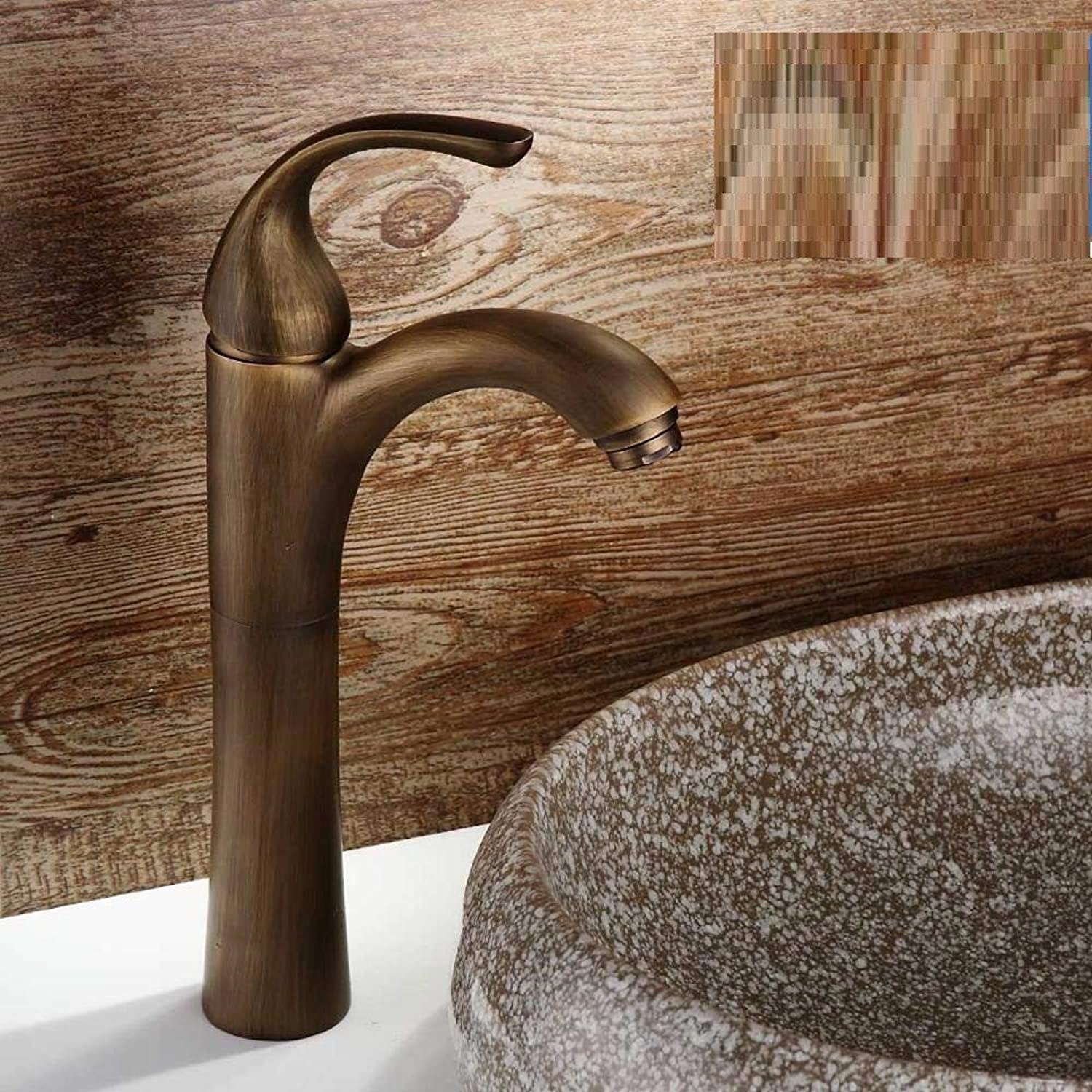 redOOY Taps Widespread Bathroom Faucet With Double Scroll Handles Finish Antique Brass Taps