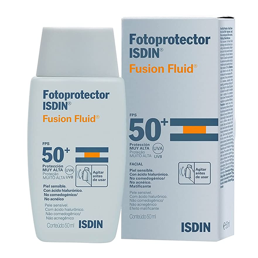 クリーム交換可能排他的Isdin Fotoprotector Fusion Fluid Spf50+ 50ml [並行輸入品]