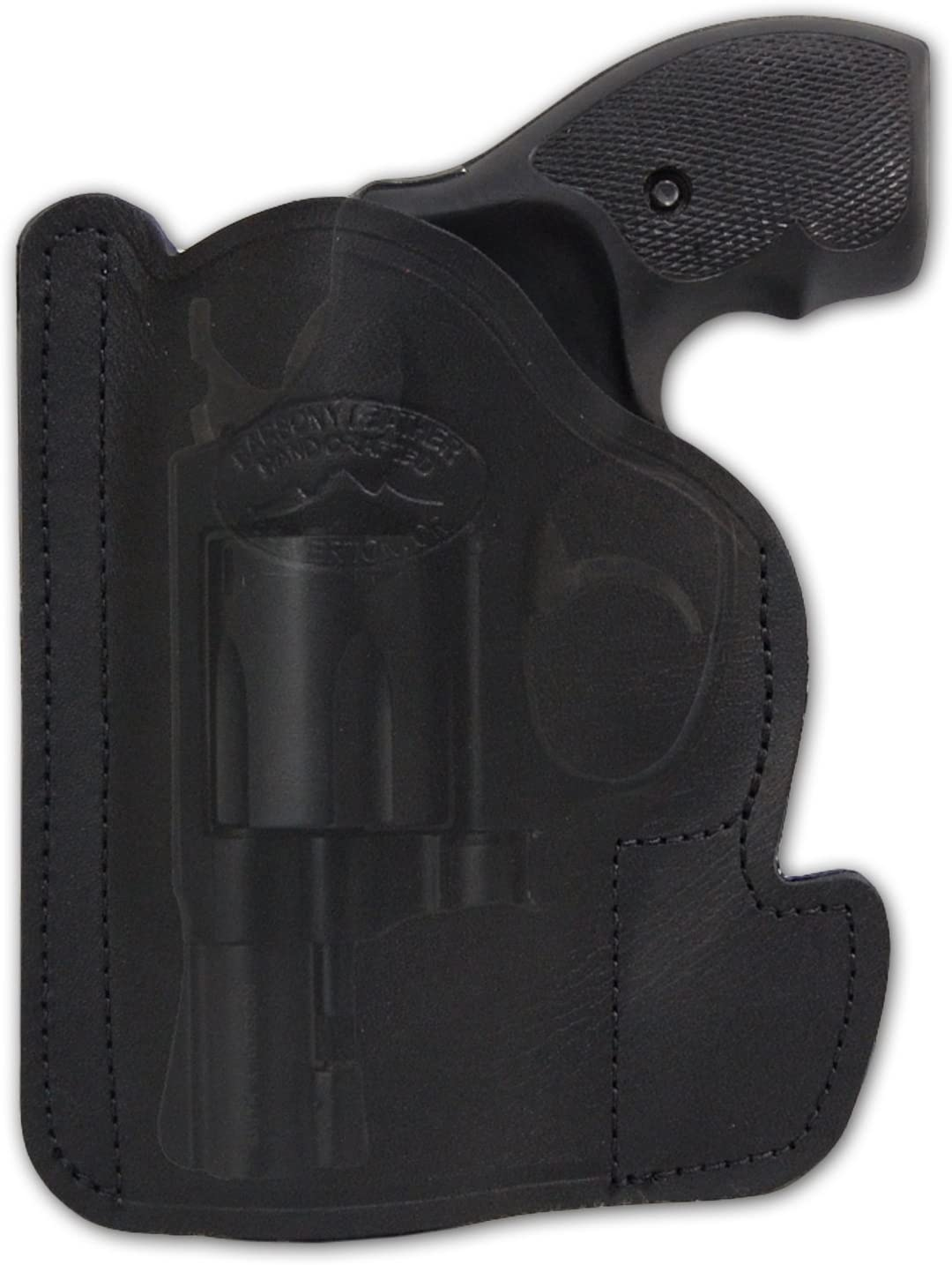 Barsony New Black Leather Selling and selling Pocket Holster overseas .38 . 2