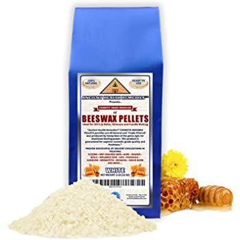 All Natural, Cosmetic Grade White Beeswax PELLETS PASTILLES 1 LB (16 oz). Bulk, Grade A, Triple Filtered Ideal for DIY Skincare, Candle Making & Lip Balm Projects (India). (1 lb)