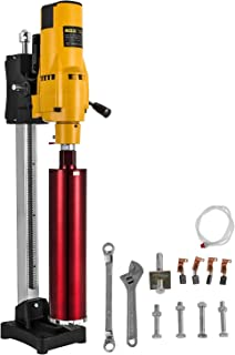 Happybuy Diamond Core Drilling Machine 205MM 8 Inch Concrete Core Drill Boring 110V 3980W Core Drill Rig with Stand Tool Wet Dry Concrete Brick Block Drilling (Drill Bit Diameter: 4.25Inch/108MM)