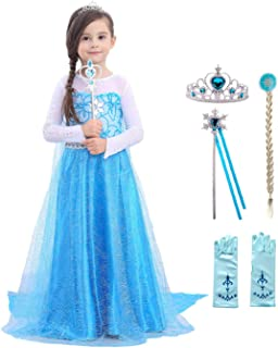 Fishkidtail Girls Princess Dresses Costume Birthday Party Halloween Cosplay Clothes Dress up for Toddler Kids