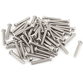 uxcell a15070200ux0005 M5 x 8mm 304 Stainless Steel Phillips Pan Head Screws Bolt Pack of 60