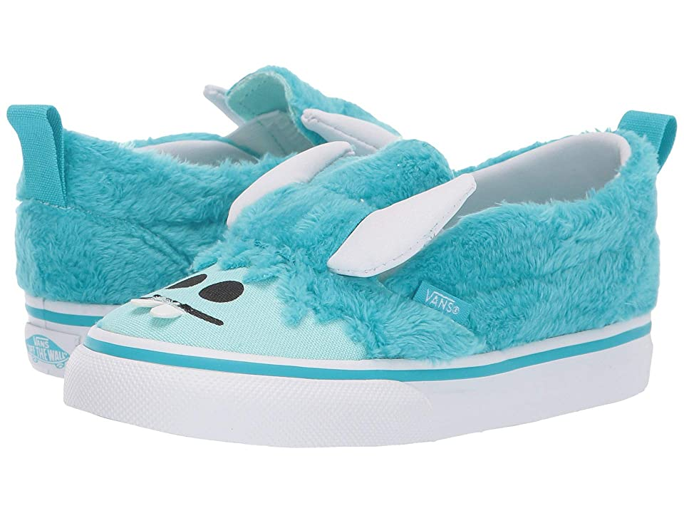 Vans Kids Slip-On V (Toddler) ((Little Monsters) Scuba Blue/Blue Tint) Girls Shoes